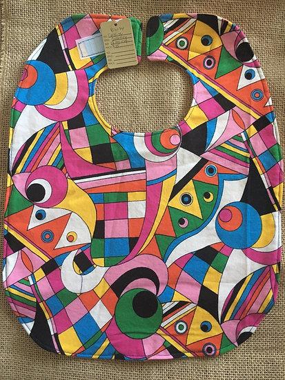 Geometry Fleece Backed Bib