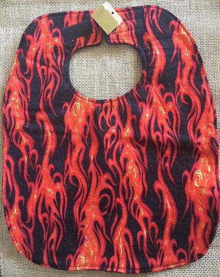 Flame Fleece Backed Bib