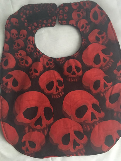 Skulls Fleece Backed Bib by Caroline