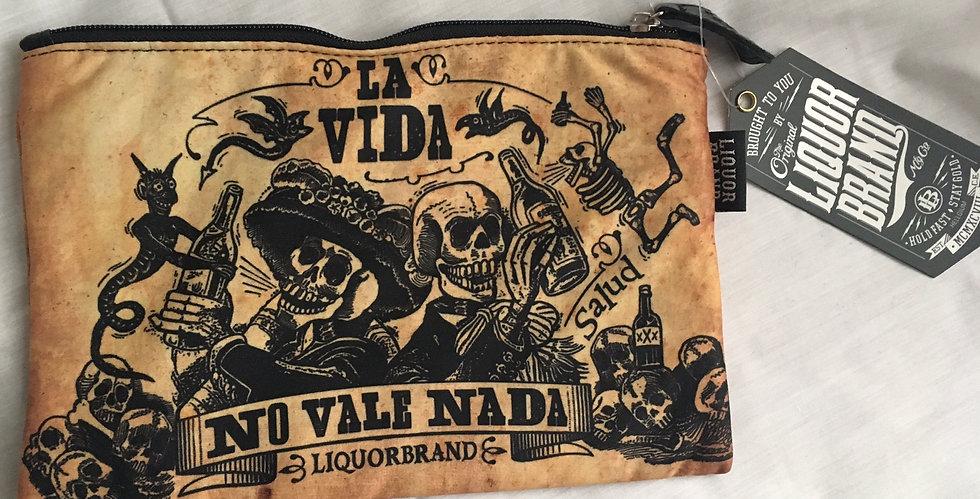 Liquor Brand Viva La Vida Cosmetic Bag
