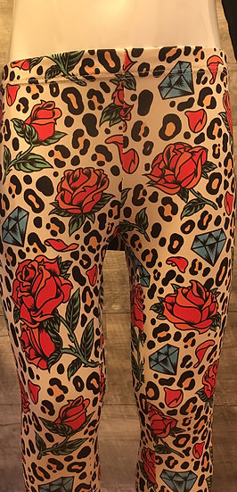 Six Bunnies Leopard Rose Leggings