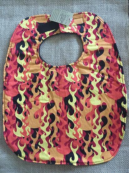 Flames Fleece Backed Bib
