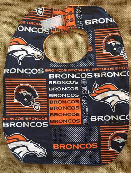 Broncos Fleece Backed Bib