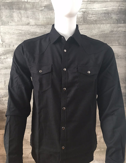Kustom Kreeps Black Western Shirt