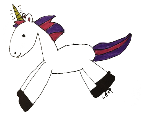 Original Unicorn Art by Lexi