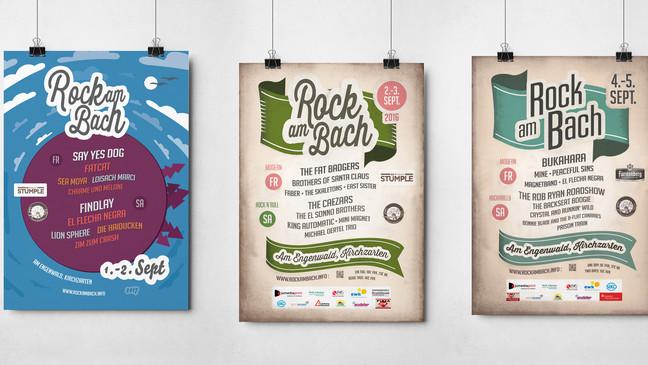 Plakate der letzten Jahre.