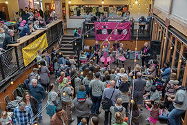 Our dance party in the Market Atrium courtesy of The Not-Its!