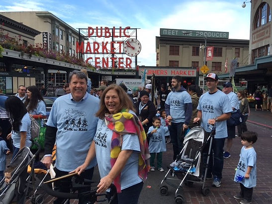 Several gathered for our 20th annual Walk For Kids event in front of Pike Place Market.