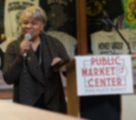 Keynote Speake Mona Lake Jones speaking at our Great Start Fundraising Breakfast.
