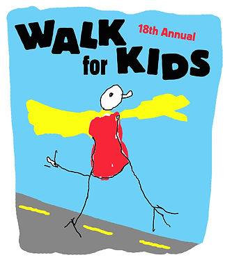 Poster for PMCCP's 18th Annual Walk for Kids.