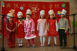 全校最年幼的唱遊班,表演唱歌時,表情豐富。Playgroup