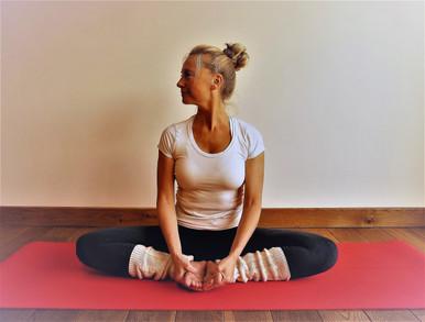 Baddha konasana Santosha Yoga