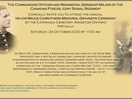Major Carruthers Memorial  Ceremony