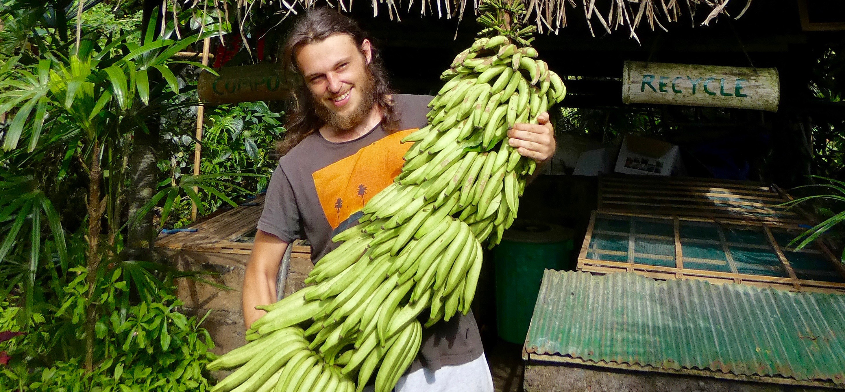 Tropical Organic Fruits Do a Free Garden Tour