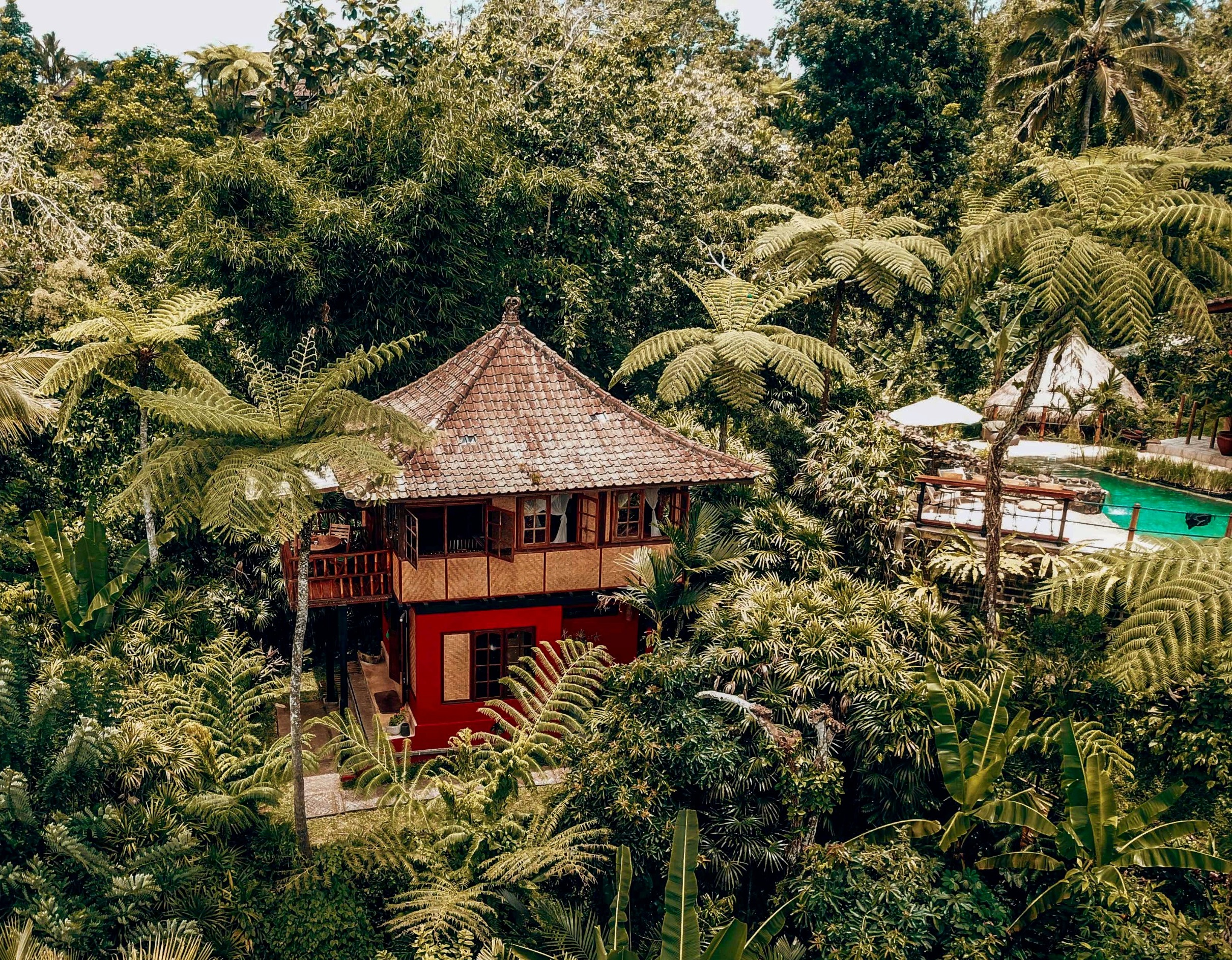 Jungle bungalow with pool