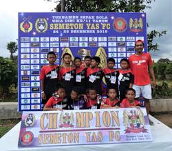 Our sponsored village team winning