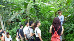 Valentina explaining waste water gardens