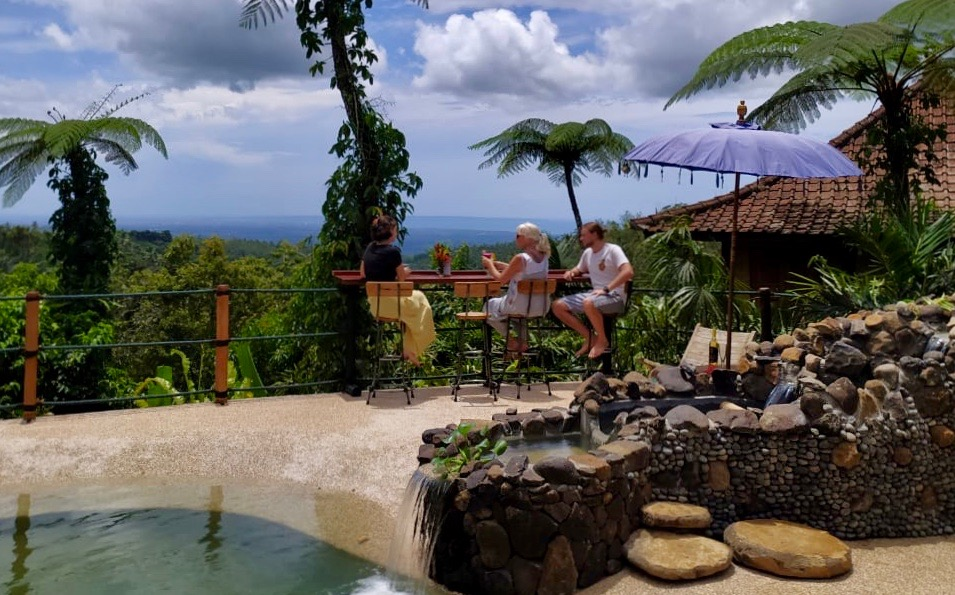 Relax at the Pool Bar with Panoramic Views to Uluwatu