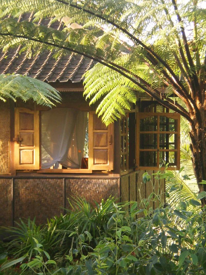 Woven bamboo walls
