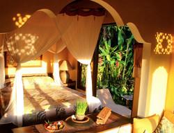 Bedroom to outdoor garden