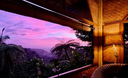 Sunset from the Tree House upstairs private lounge