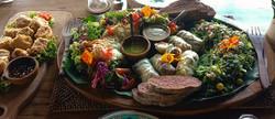 Vegan lunch platter for 2