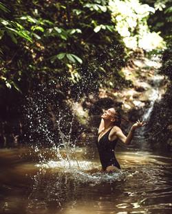 Natural river pool