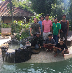 Pool building team
