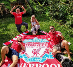 Happy family Liverpool wins the premier league