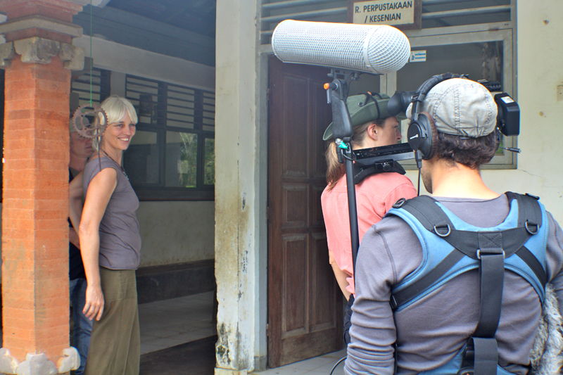 Filming for Ecolodges of the world documentary