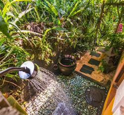Orchid garden outdoor shower