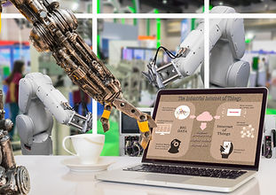 """""""Take 5"""" (Dave Brubeck): A robot taking a coffee break in the shop office."""
