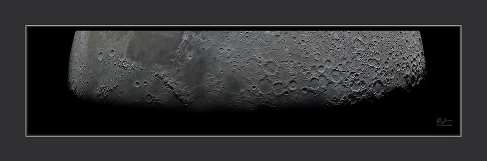 The moon terminator in high resolution, moon wall art poster available