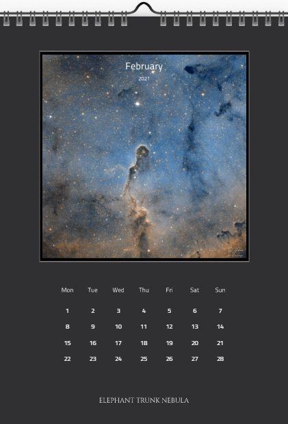 February Elephant Trunk Nebula