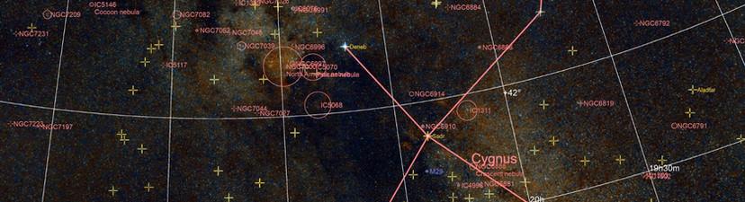 Kommentierte Cygnus-Konstellation