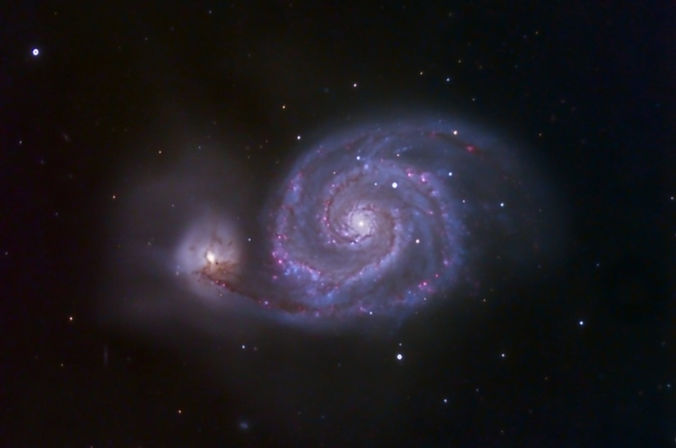 The whirlpool Galaxy, Messier 51