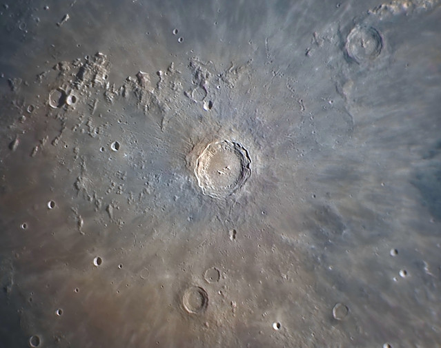 Copernicus crater close up image