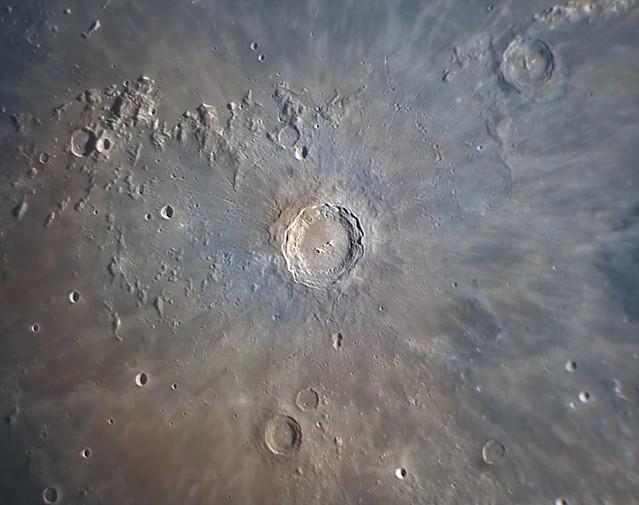 Copernicus crater close up image