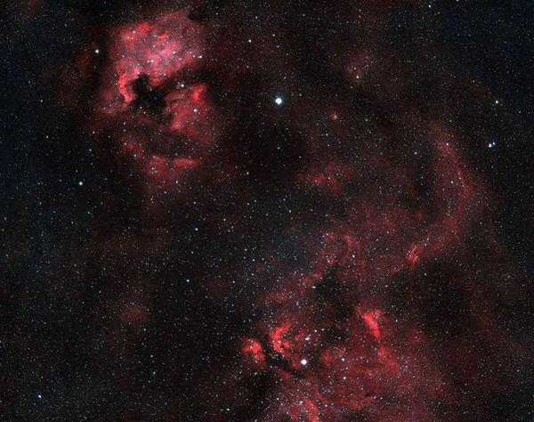 North american nebula to the inchworm nebula in Cygnus