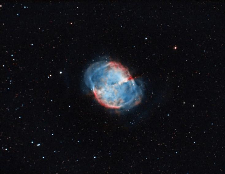 Messier 27, the Dumbbell planetary nebula
