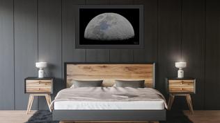 Half moon high resolution poster