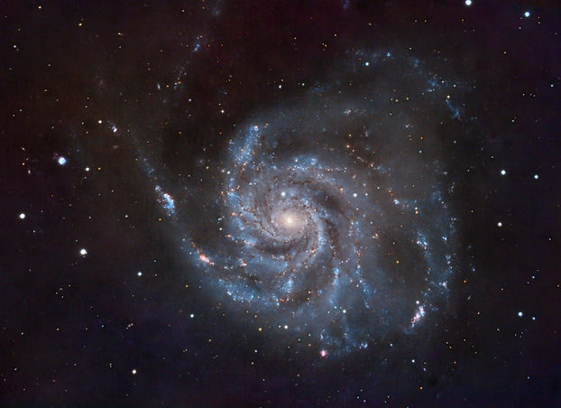 The Pinwheel Galaxy, Messier 101 in Ursa Major, some 21 million light-years away.