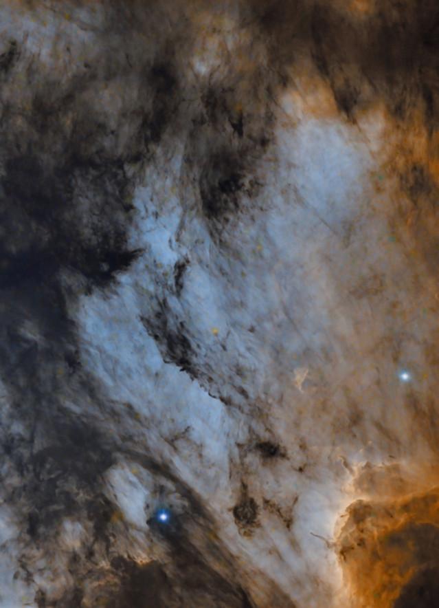 North american and pelican nebula