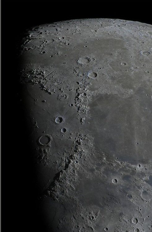 North part of half moon surface