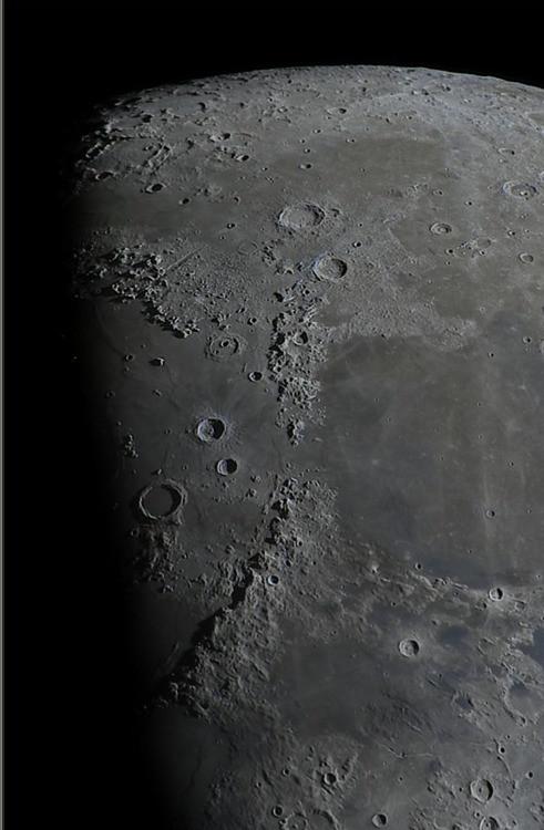North part of half moon surface