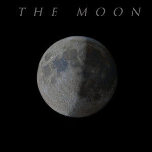 The moon poster, personalized with your own text, just ask