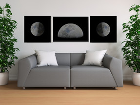 wide poster living room, moon posters