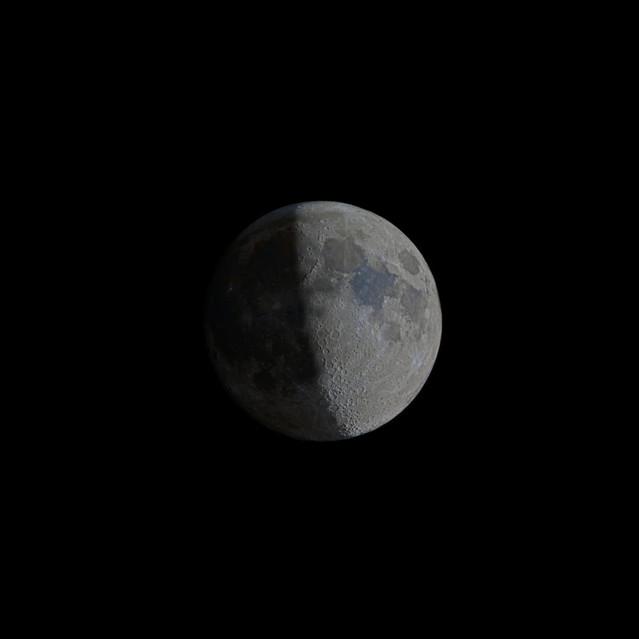 Half moon and the dark side