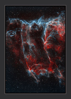 The bat nebula in the veil nebulawall art. Astronomy poster. Wall Art prints