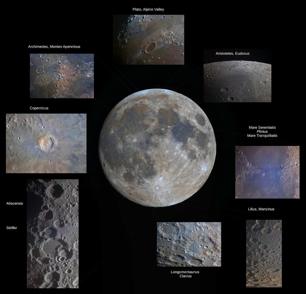 Mond Nahaufnahmen: Copernicus, Aristoteles, Eudoxus, Platon, Clavius, Alpental